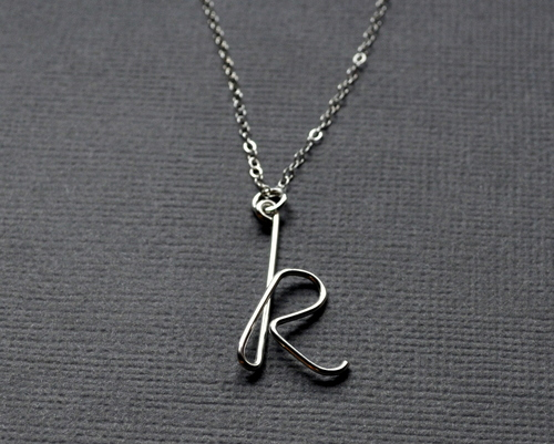 handmade jewellery designer - initial necklace