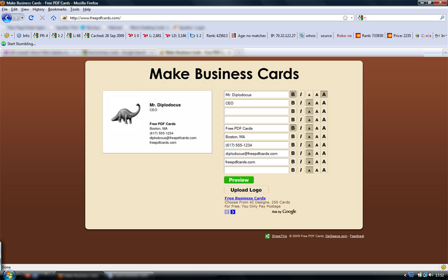 Make Free Business Cards Online - JWGInternational