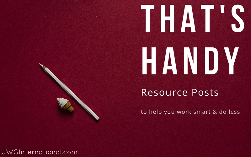 resource post to help you work smarter and do less