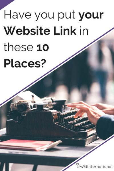 10 Places your Creative Business URL Should Be