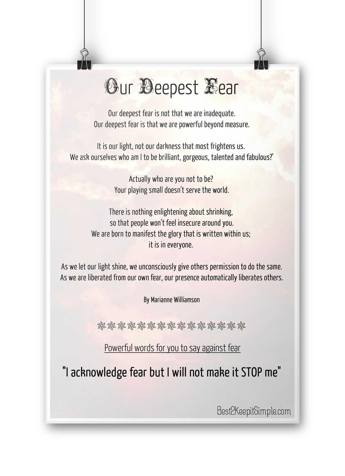 our deepest fear poster