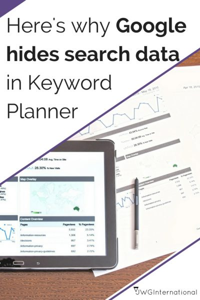 Google hides search results in keyword planner