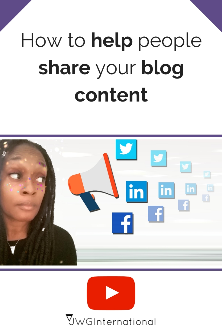 How to help people share your blog content