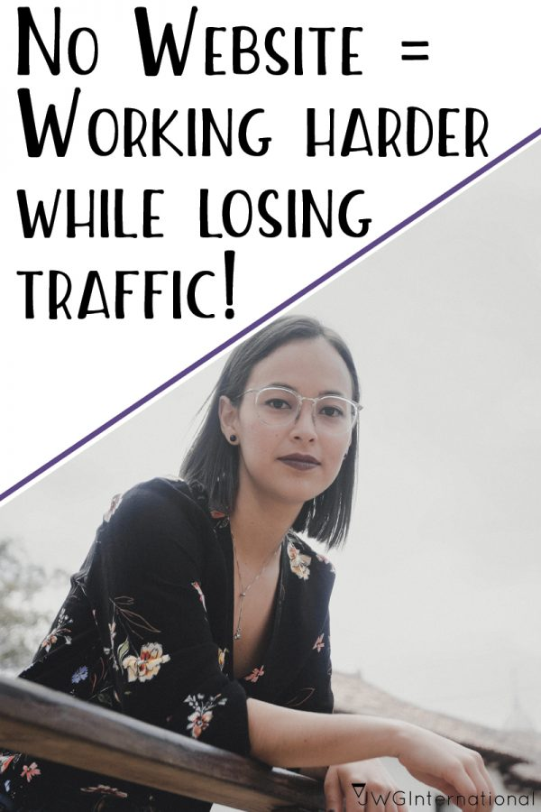 no website means working harder and losing traffic