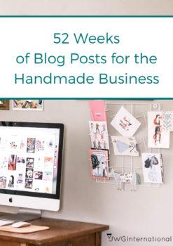 52 weeks of blog posts-handmade business