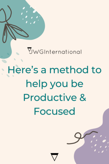 Here's a method to help you be Productive & Focused