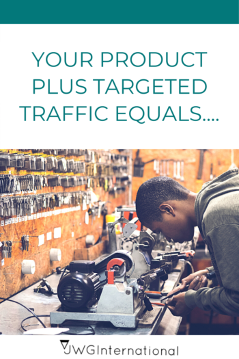 Your product plus targeted traffic equals sale